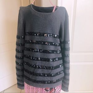 ♦️ ALICE & OLIVIA sequin sweater Sz M!